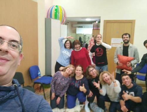 taller de risoterapia  y sentido del humor realizado en Espaciorisa (MURCIA) Noviembre 2018
