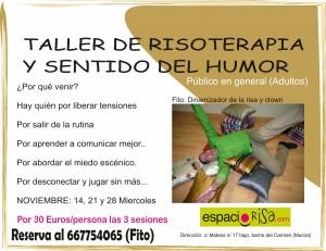 Próximo taller de risoterapia en Murcia