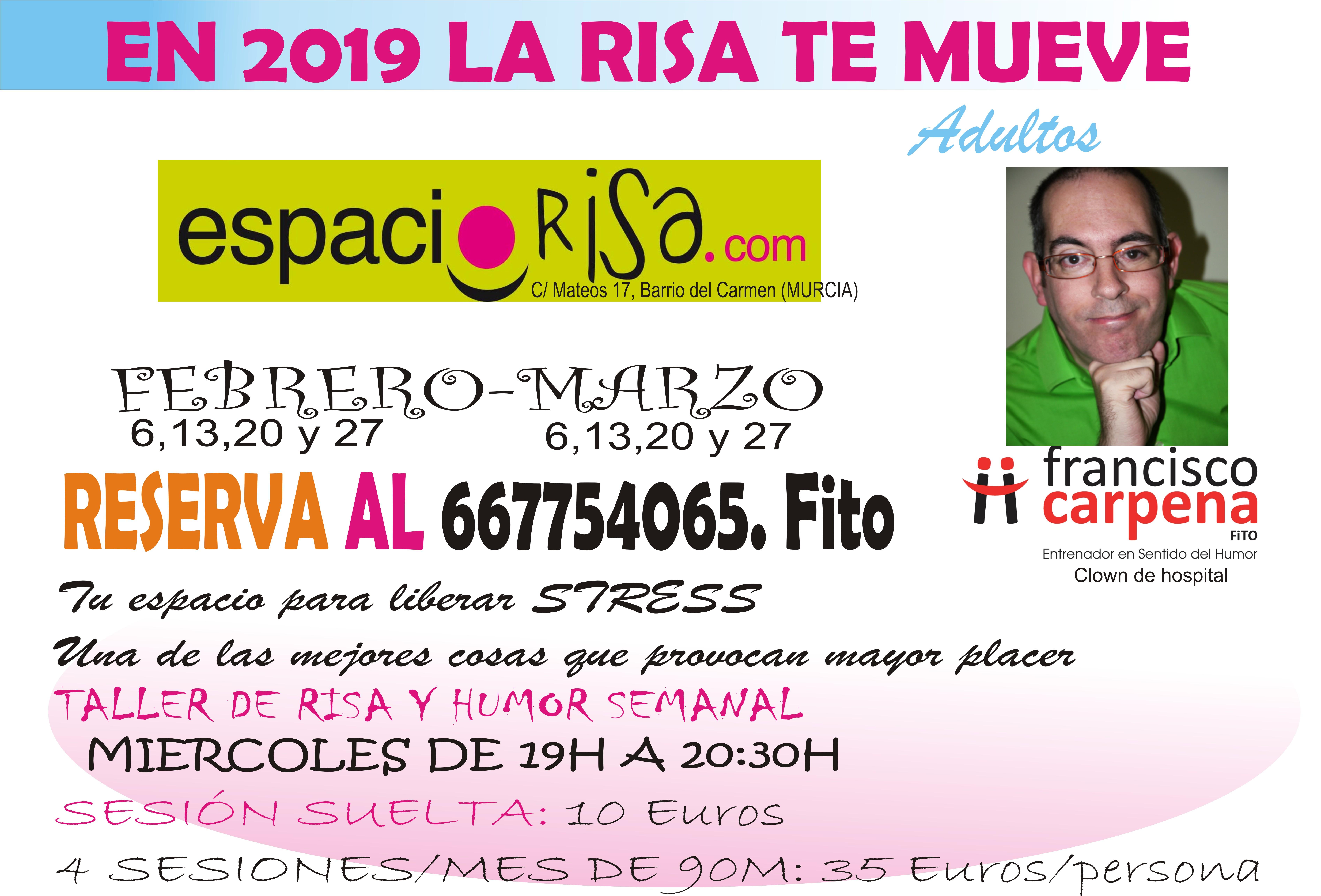 Próximo taller de risoterapia y humor semanal (MIERCOLES) Comenzamos 6 de Febrero 2019