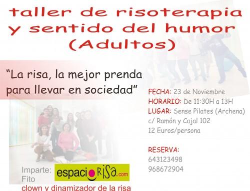 Taller realizado en Sense Pilates de risoterapia y sentido del humor 23 de Noviembre sábado en Archena. Sense