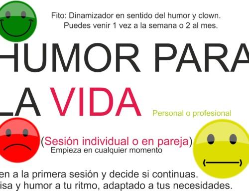 Humor para la vida (sesión individual o en pareja). Empieza cuando quieras.
